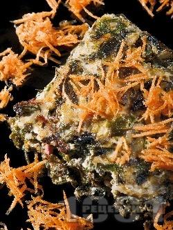 Постна спаначена мусака с ориз, яйца, лук и прясно мляко на фурна - снимка на рецептата